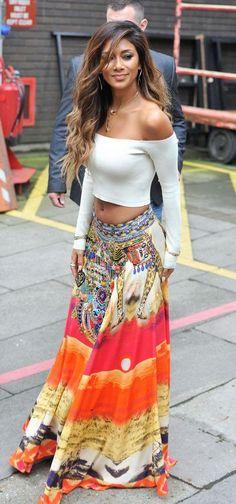 #summer #fashion / maxi skirt