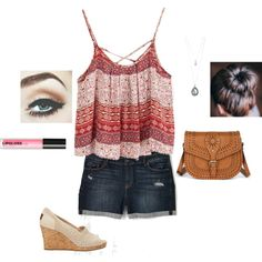 Shopping by swimmer124 on Polyvore featuring TOMS, Sole Society, Forever 21 and H&M