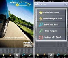 """National Highway Traffic Safety administration Safecare mobile app """"Buy Safe, Drive Safe, and Stay Safe"""""""