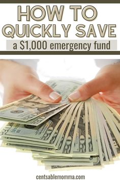 Before you can start on a big goal such as paying off debt or building a 3-6 month emergency fund, you'll want to start with a small emergency fund of $1,000 to get you through when life happens. Check out these tricks for how to quickly save a $1,000 emergency fund. #emergencyfund #financialgoals #babystep1 Make More Money, Ways To Save Money, Make Money From Home, Money Tips, Money Saving Tips, Extra Money, Money Budget, Extra Cash, Savings Planner