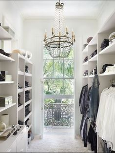 Walk in closet with balcony - gorgeous