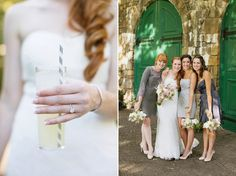 Strong Mansion Wedding - mismatched grey bridesmaid dress