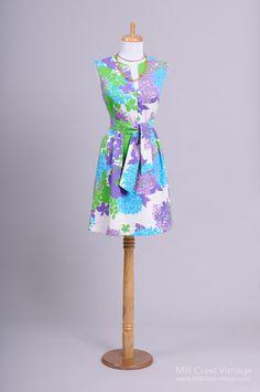 1960's Malia Honolulu Origami Pastel Vintage Day Dress : Mill Crest Vintage
