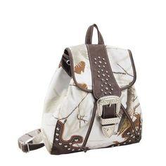 Realtree Snow Camo with Stud and Buckle Backpack  #Realtreecamo