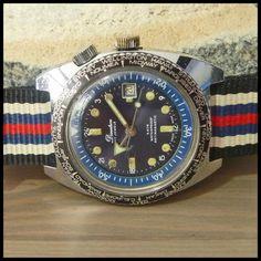 60's DIMETRON [Swiss] Vintage Diver's Watch HW 17j Ebauches Bettlach Cal. EB8800