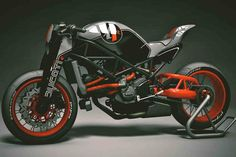 "Ducati ""Naked"", KBike Factory Custom Motorcycle."