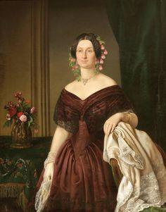 Joseph Karl Stieler attr., Portrait of Elisabeth Freifrau von Oefele