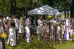 the Jazz Age Festival on governor's Island, our booth