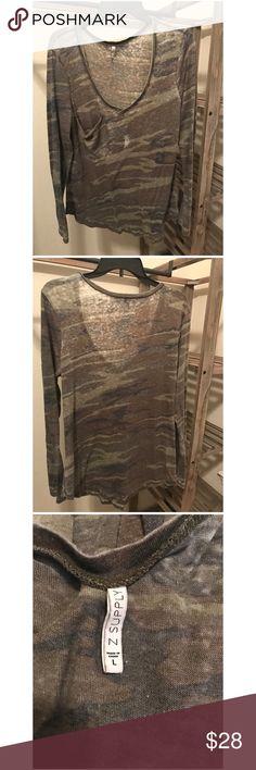 Z Supply :: Long Sleeve Shirt :: Camo Z Supply :: Long Sleeve Shirt :: Camo Z Supply Tops Tees - Long Sleeve