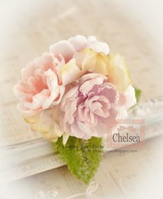 Shabby Card - Peonies Flower Tutorial - created from coffee filters