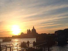 Sunset on the lagoon , Venezia, December 2013