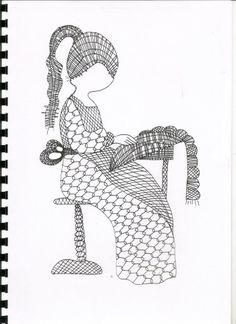 klossend meisje Scrap Quilt Patterns, Bobbin Lace Patterns, Crochet Patterns, Embroidery Techniques, Embroidery Stitches, Bobbin Lacemaking, Lace Art, Point Lace, Lace Jewelry