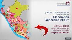 Sabes cuantos votantes hay en cada Departamento del Perú. Feb 03, 2016.