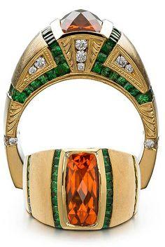 Spessartite Garnet Gents Ring - Mark Schneider Design
