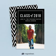 The bold design of this Graduation Announcement Card (also available as a magnet) perfectly captures this momentous announcement.