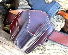 Nightingale Leather Walther PPS Osprey OWB Holster Cordovan Cowhide Natural White Stitching