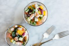 This citrus shrimp ceviche is Mexican-inspired with a California flair. It's amped up with orange and grapefruit for a bright and delicious ceviche recipe.