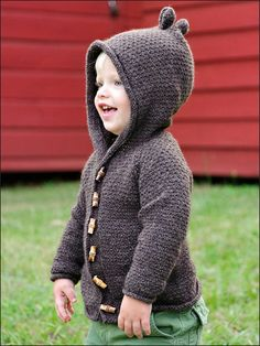 Sugar Bear Hooded Cardi knitting pattern
