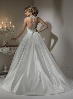 2013 ballgown dresses | ... 2013 Tailormade Corset Taffeta Halter Neckline Ball Gown Wedding Dress