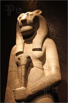 Egyptian statue in the Museo Egizio, in Turin, Italy. This museum is specialising in Egyptian archaelogy and anthropology. It houses the world's largest and most comprehensive collection of Egyptian antiquities outside the Egyptian Museum in Cairo