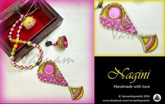 Here's a modified version of Nagini :) It's completely different from the older version where the 3d work is brought about by muck work :)  Code name: Nagini version 2.0 Customized Handcrafted paper based pendant with muck work, cabochon and rhinestones. I had paired it with jhumkas with the same muck work for the 3D effect.  #handmadelove #varnambypreethi #nagini #chennai #accessories #jhumkas #cabochons #jewelry #trendy #paperbased #paperjewelry #resincasted
