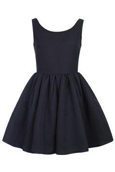 $45 ROMWE | ROMWE Pleated Sleeveless Puff Sheer Black Dress, The Latest Street Fashion