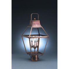 Northeast Lantern Uxbridge 1 Light Lantern Head Finish: Dark Antique Brass, Shade Type: Clear Seedy