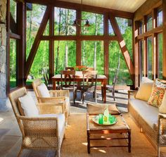 Super high, but very rustic.  screened porch