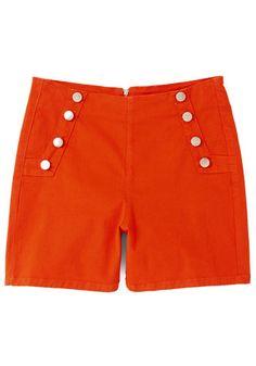 Nautial Button Shorts #shorts #1950sfashion