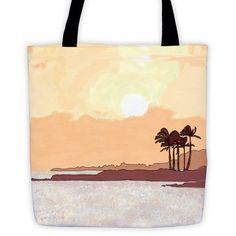 Illustrated Sunrise Tote bag