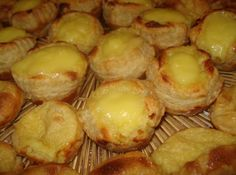 "When I lived in New Jersey there was a Portugese Bakery close by. Every Sunday I would go there to buy fresh ""Pastelitos de Nata"". They were to die for. They just melted in your mouth. There was always a big line to buy them. After moving away It had been many many years since I last had them. Well what luck a very good friend of mine marries a Portuguese girl; and her family comes from Portugal to visit and I was able to get this great recipe for this delectable dessert. Enjoy"