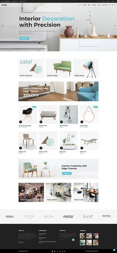 Beautiful looking and easy to set up, Cozy WordPress theme has all you need for an interior design and architecture website that stands out. Interior Design Themes, Interior Design Website, Interior Design Studio, Interior Decorating, Portfolio Layout, Portfolio Design, Creative Portfolio, Best Wordpress Themes, Layout Design