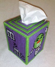 Candy Tissue Box Cover by SpyderCrafts on Etsy, $10.00