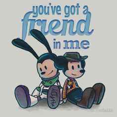 You've Got A Friend In Me - Mickey Mouse and Oswald The Lucky Rabbit as Woody and Buzz Lightyear