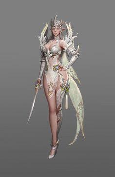 Ranger costume design for Black Desert online, teratoid park on ArtStation at https://www.artstation.com/artwork/q6KLa