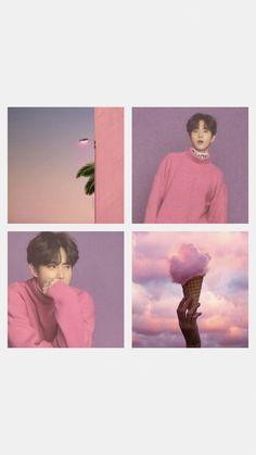 Aesthetic Collage, Kpop Aesthetic, Pink Aesthetic, Exo Ot12, Suho Exo, Aesthetic Backgrounds, Aesthetic Wallpapers, Exo Sign, Baekhyun Wallpaper