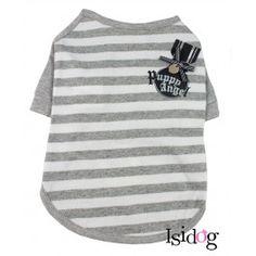 """T-shirt """"Stripe"""" Puppy Angel gris"""