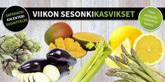 Sesonkikasvikset viikoille 13-14 - namm mango, munakoiso ja parsa