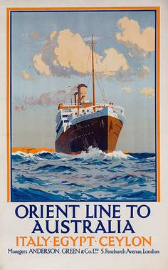 Orient Line to Australia, Italy, Egypt and Ceylon