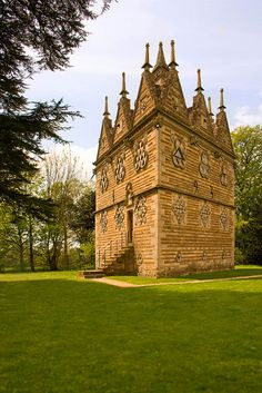 """Triangular Lodge near Rushton, Northamptonshire:""""Far more than an intriguing folly, Sir Thomas Tresham's Triangular Lodge tells the story of religious oppression, torture and courage through its mathematical puzzles and secret codes in stonework."""" www.bradtguides.com"""