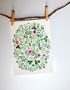 lovely watercolour. It can be postcard or wrapping paper!