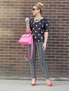 Top: J.Crew, Pants: Dillard's, Shoes: Zara, Bag: Kate Spade  The Paper Doll Blog