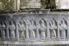 Carved saints on a tomb at the Rock of Cashel - photo courtesy of Thin Places Mystical Tour of Ireland