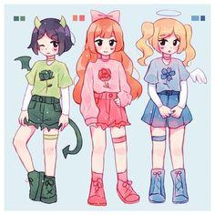 Drawing Anime Clothes, Anime Girl Drawings, Cute Art Styles, Cartoon Art Styles, Kawaii Anime Girl, Anime Art Girl, Girl Cartoon, Cute Cartoon, Powerpuff Girls Wallpaper