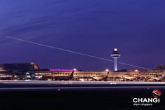 Changi Airport at night. One of my favourite airports.