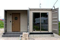 コンテナハウスの施工実績|株式会社アーススマート Modular Homes, Container Homes, Garage Doors, Lifestyle, Outdoor Decor, House, Home Decor, Townhouse, Diy Creative Ideas