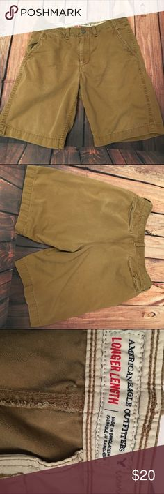 American eagle outfitters men's size 34 shorts American eagle outfitters longer length men's khaki shorts. Size 34. In good condition. American Eagle Outfitters Shorts