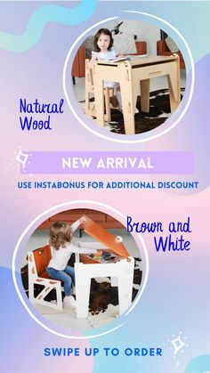 Handmade wooden educational furniture for kids up to 8-10 years! Start preparing for #backtoschool season now before it's too late! Use the code INSTABONUS for 4%off additionally on our website or Etsy shop! Toddler Furniture, Kids Up, Table Desk, Wooden Furniture, Handmade Wooden, School Supplies, Montessori, Natural Wood, Back To School