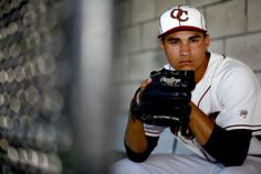 Travis Radke, baseball pitcher for Oaks Christian High School poses for a picture at Oaks Christian High School in Westlake Village, CA.  Ma...