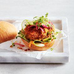 Burgers végés aux patates douces et aux pois chiches